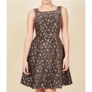 🍫 ModCloth Floral Fit and Flare Dress Size XXS